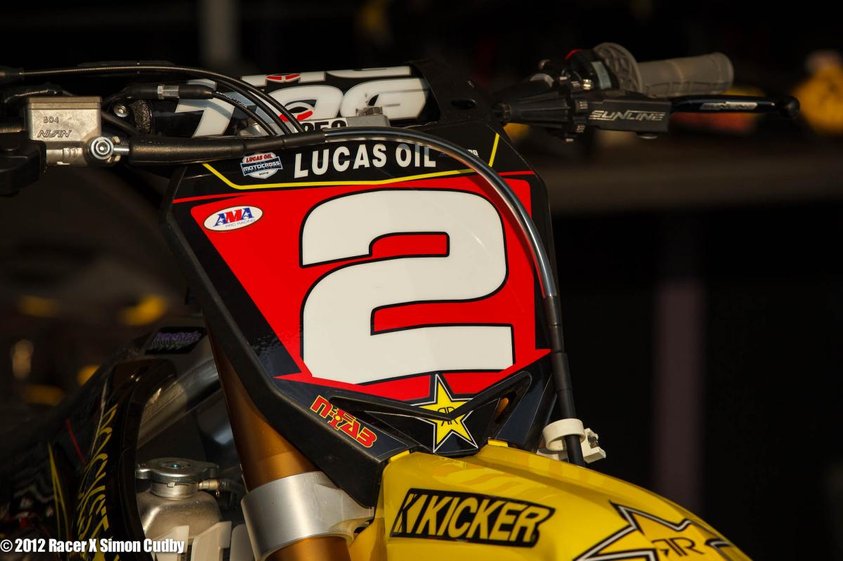 Jessica Patterson's red plate for WMX