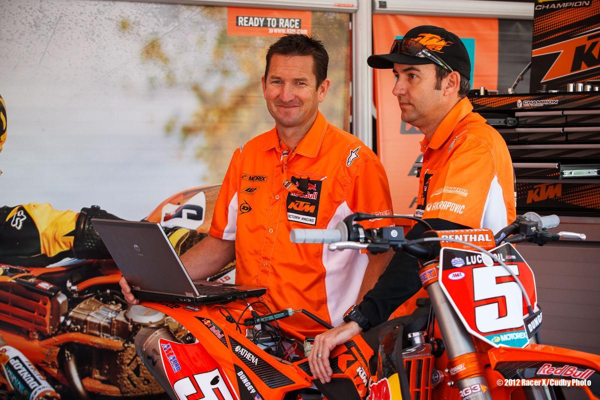 Ian and Carlos at KTM