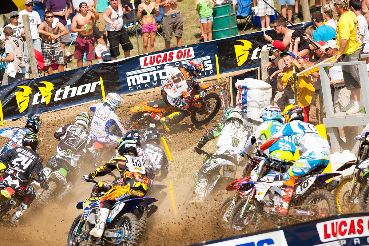 Ryan Dungey in the lead