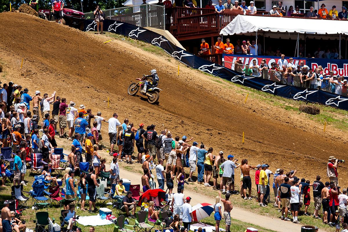Justin Barcia leading the pack.