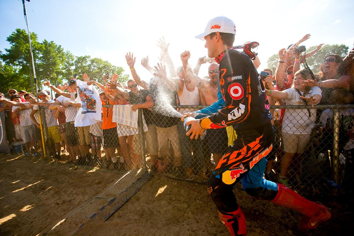 Ryan Dungey celebrates