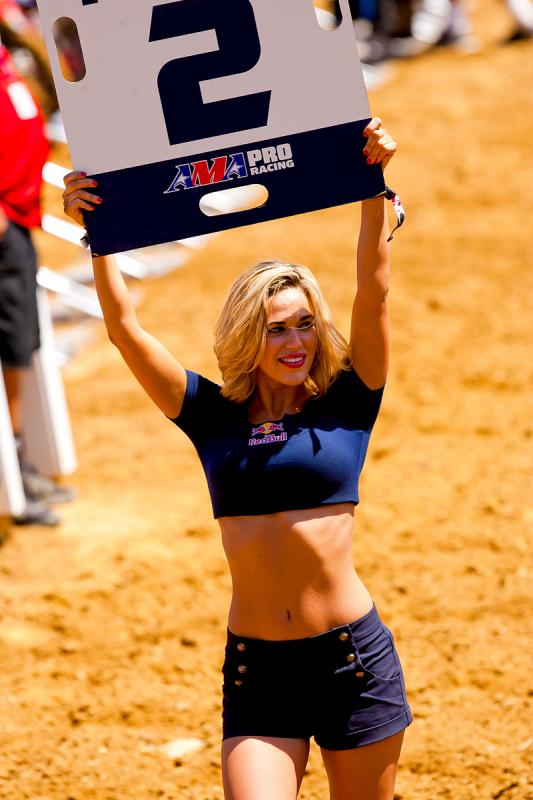 Red Bull moto card girl.