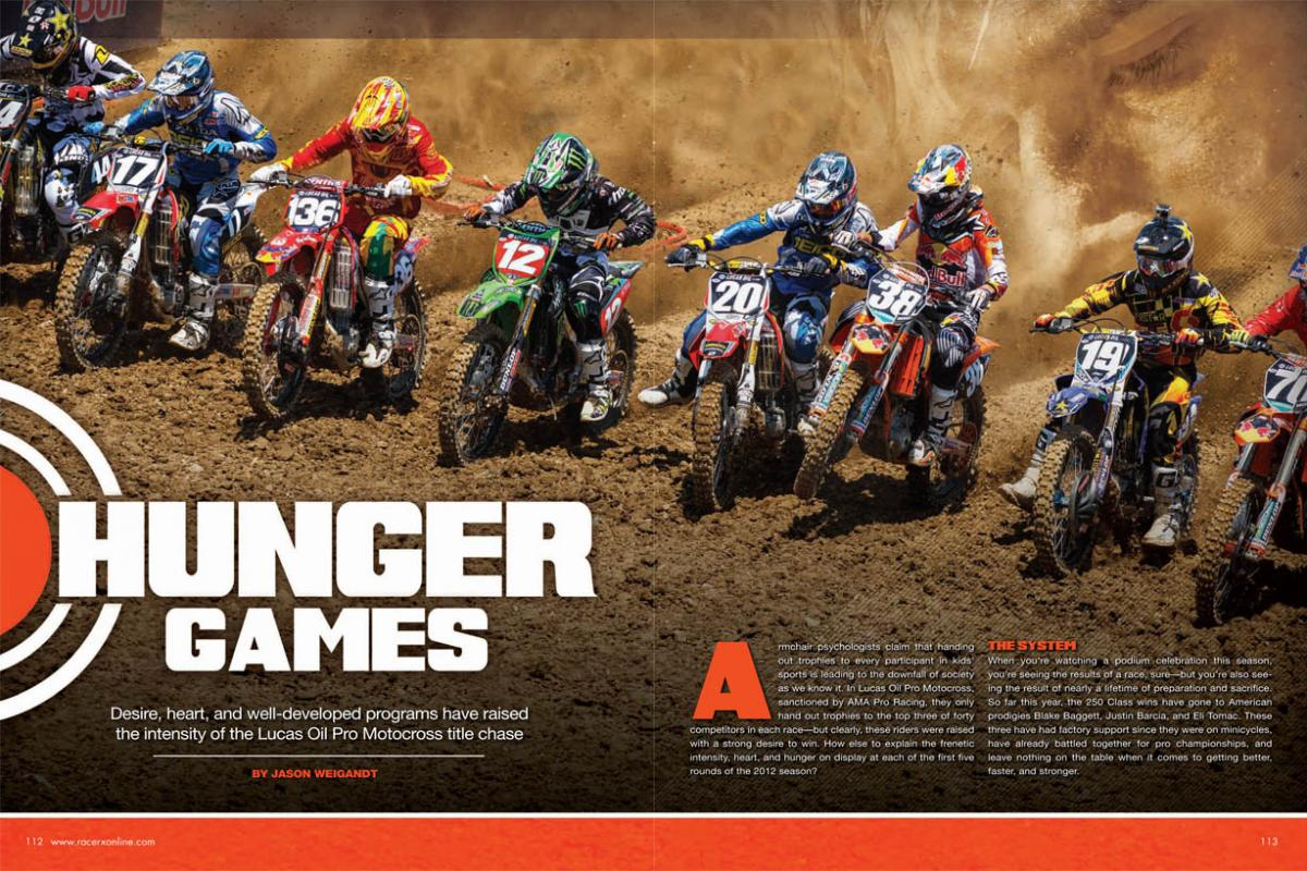 The Lucas Oil Pro Motocross Championship title chase is as intense as ever—particularly in the 250 Class, where desire, heart, and sheer will have never been more prevalent. Page 112.