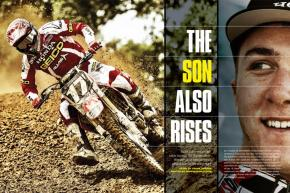 Eli Tomac comes from racing royalty—his dad is a certified mountain biking legend—and now he's carving out his own niche at the top of the motocross mountain. Page 136.