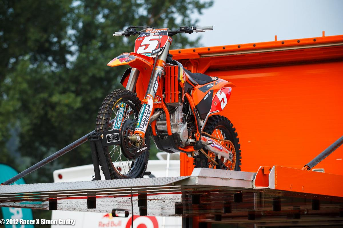 Dungey's KTM arrives