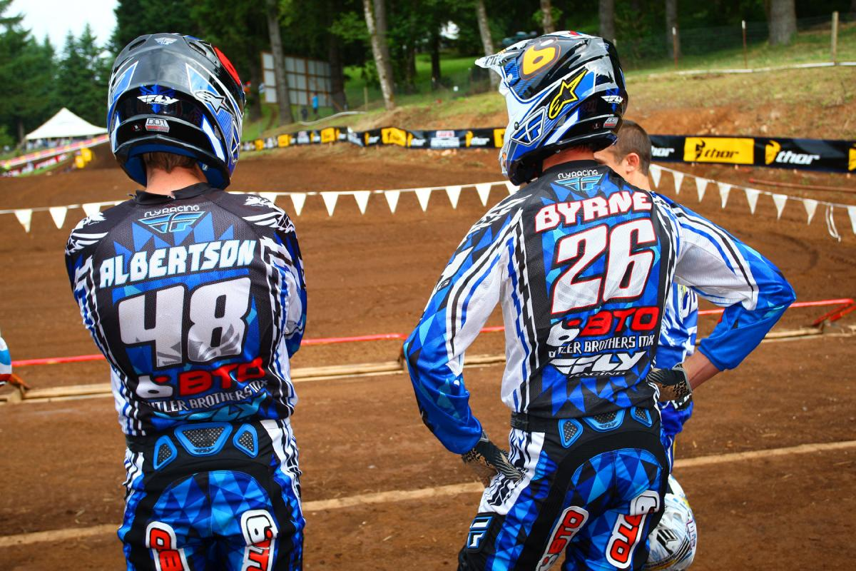 Jimmy Albertson and Michael Byrne