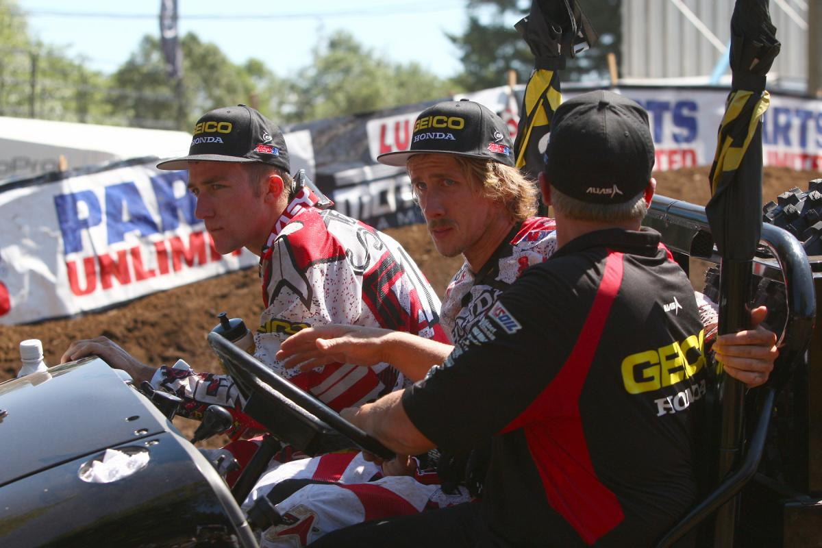 Eli Tomac and Justin Barcia