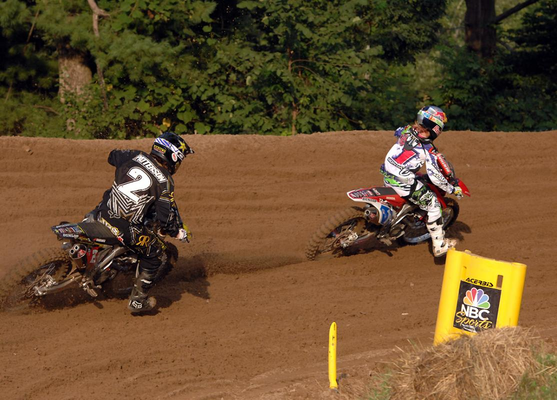 Fiolek and Patterson battle in the WMX Class