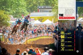 Some of best riding coaches in the sport discuss the fitness and technique— good and bad— of Dungey, Alessi, Weimer, Baggett, Barcia, and Tomac. Page 106.