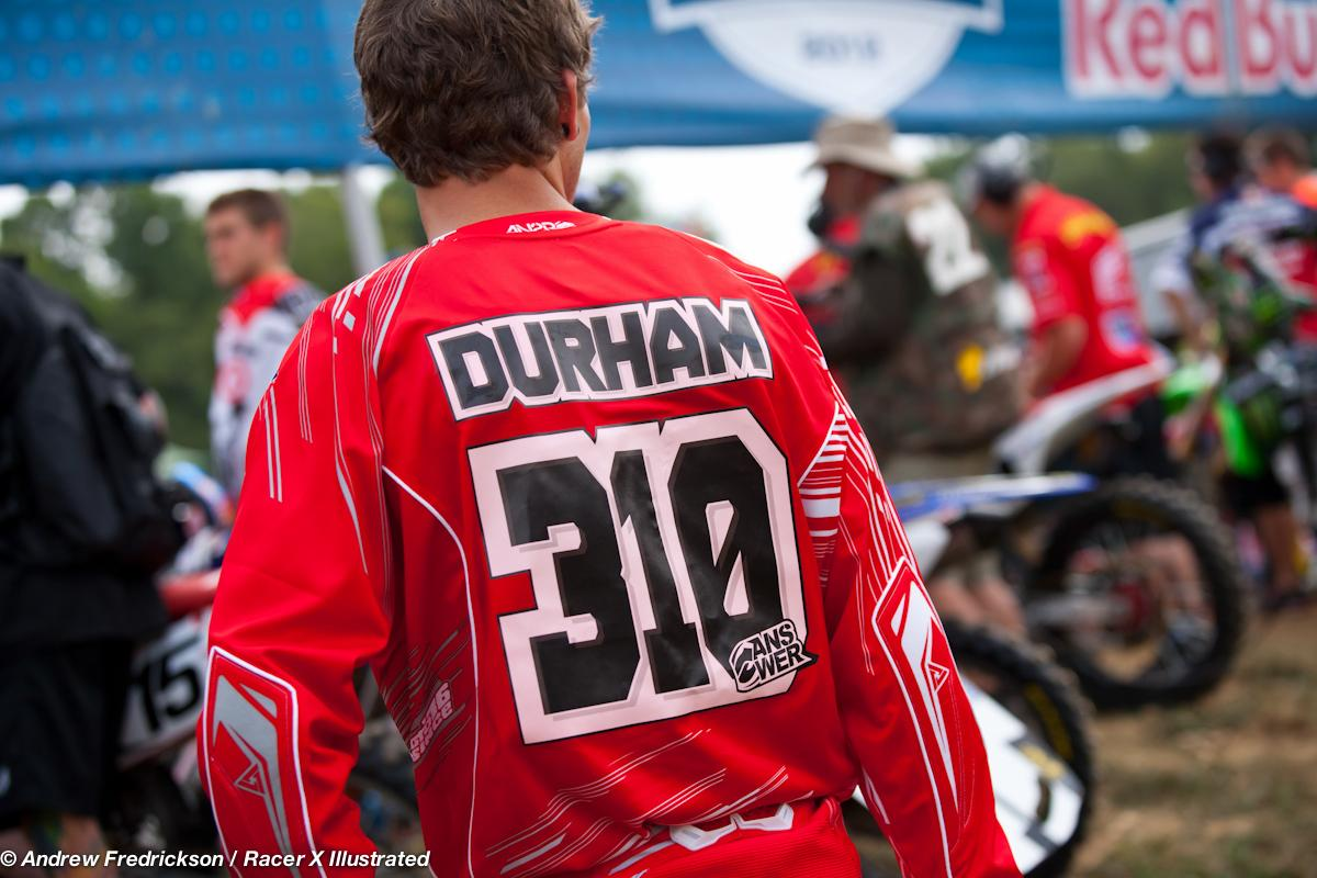 Shane Durham getting ready for moto 1