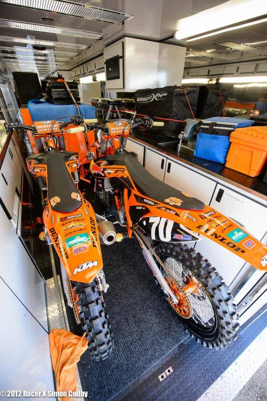 Musquin and Roczen's KTM's