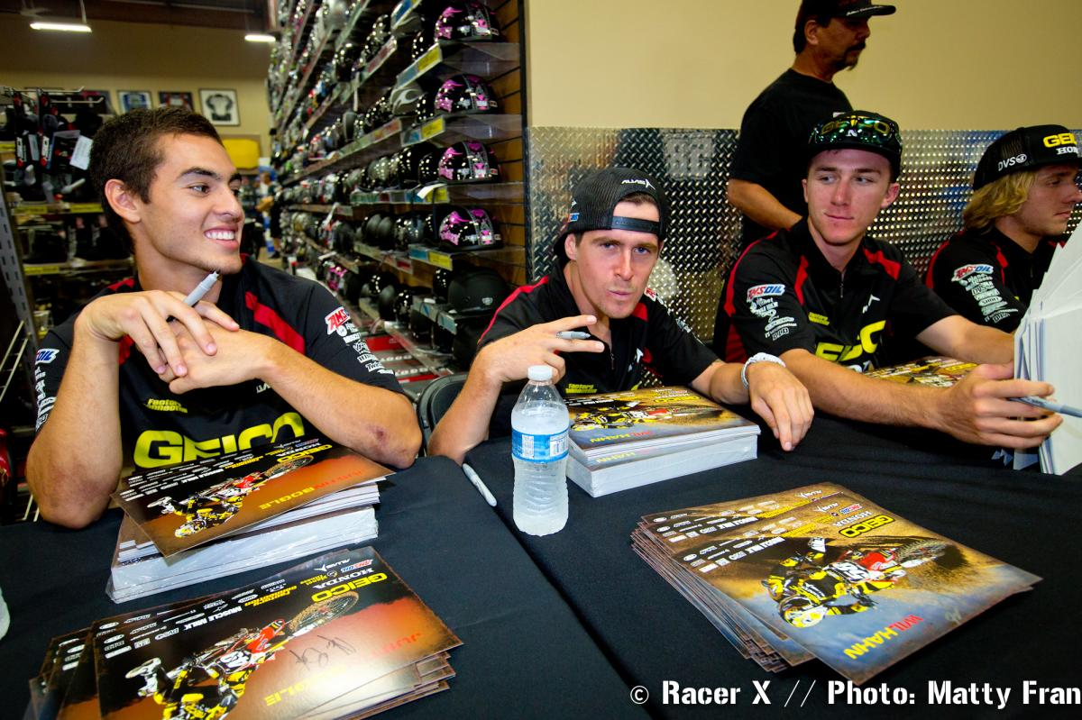 Temecula Motorsports autograph signing