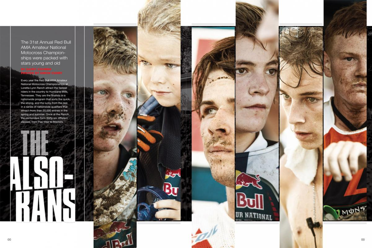 This year's Red Bull AMA Amateur National Motocross Championships at Loretta Lynn's featured some serious star power. Here are some of the racers you might have overlooked. Page 126.