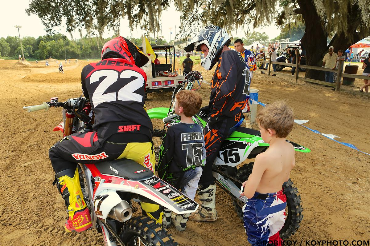 Chad Reed and Tim Ferry hanging out at Dade City MX