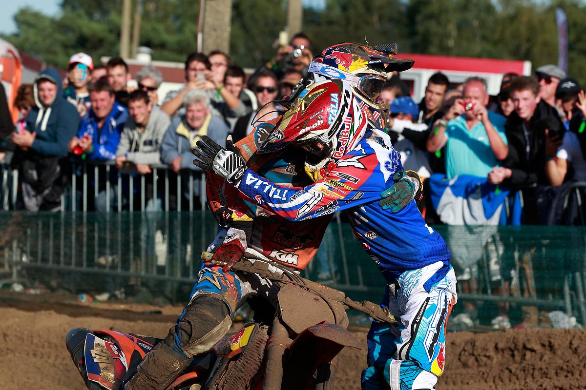 Jeffrey Herlings (NED) and Tony Cairoli (ITA)
