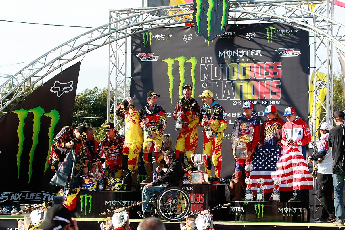 The MXoN podium - Belgium, Germany and the United States