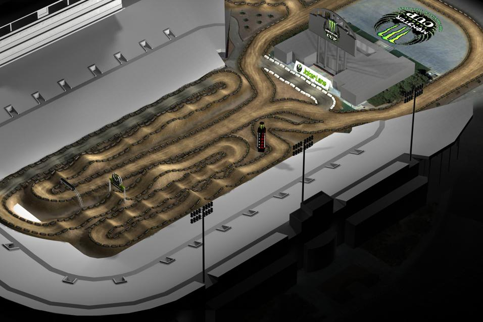 Animated Track Map:  Monster Energy Cup