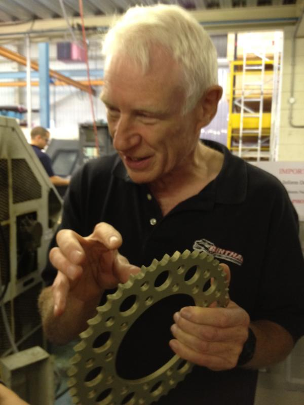 Founder Henry Rosenthal discusses the finer points of sprocket manufacturing