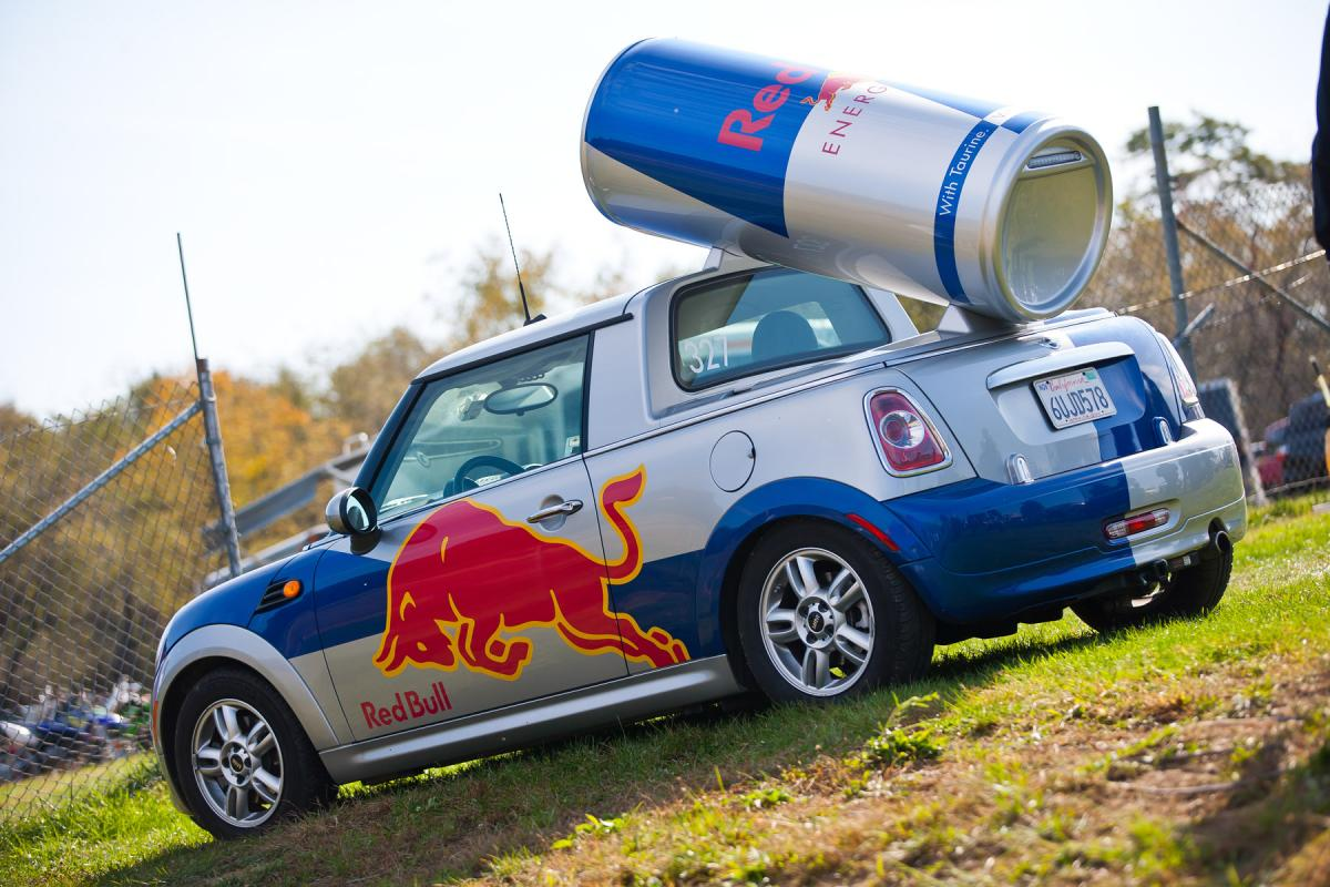 Red Bull was on hand with plenty of giveaways.