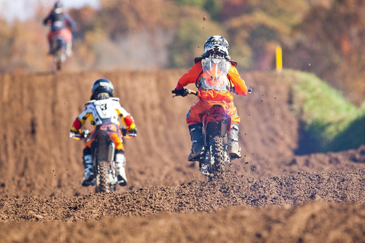 Lil' rippers going through the whoops.
