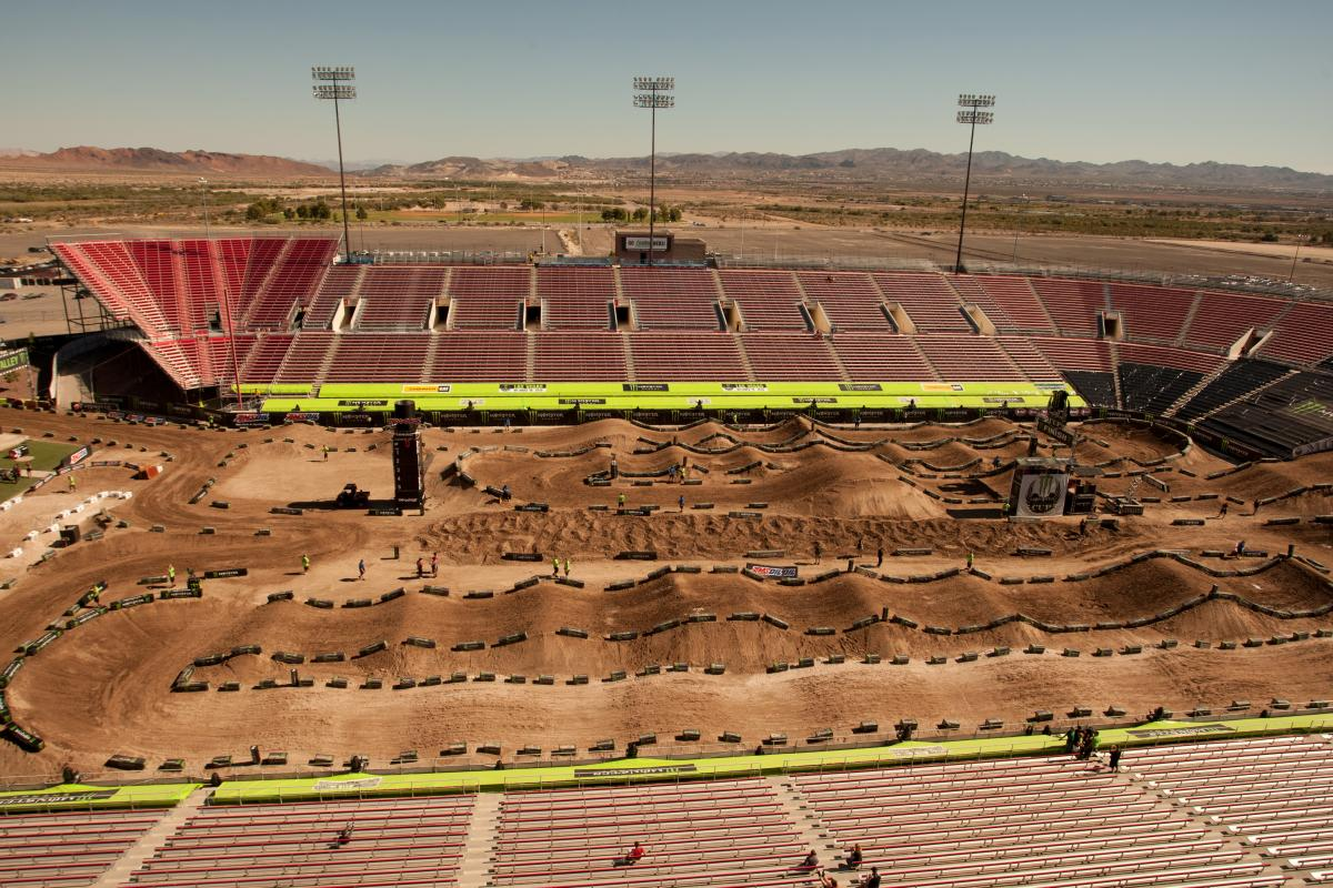 The Monster Energy Cup track