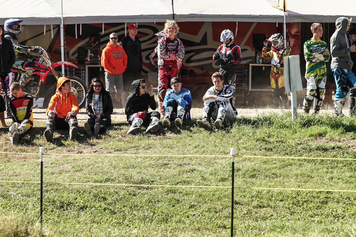 Riders watching for the fast lines and how they stacked up to the competition