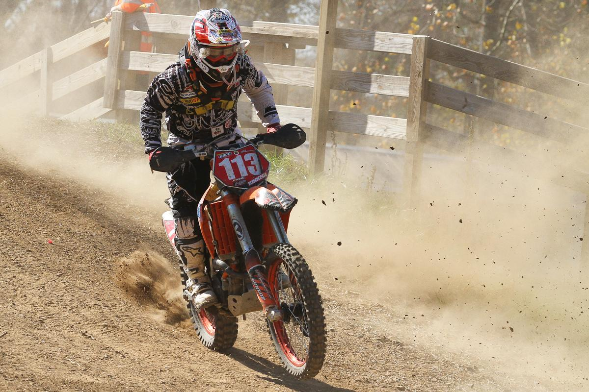 Japan's Takeshi Koikeda raced the full GNCC Series and had his best run at Loretta's.