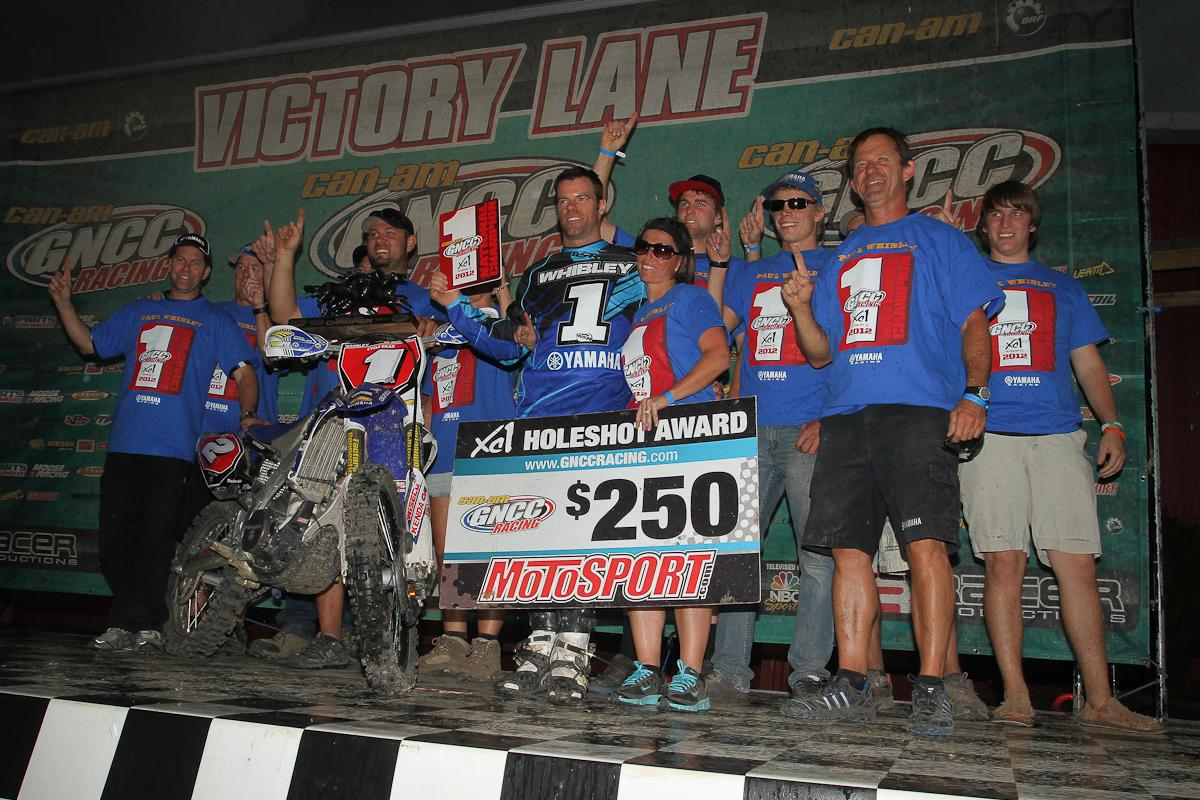 Am-Pro Yamaha celebrates Whibley's title.