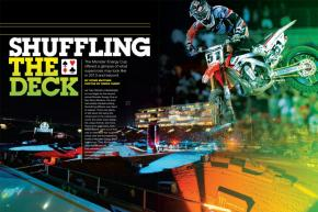 Upping the game for its second year, the Monster Energy Cup in Las Vegas brought out plenty of new tricks for 2012. Could its innovations reach into mainline supercross as well? Page 124.