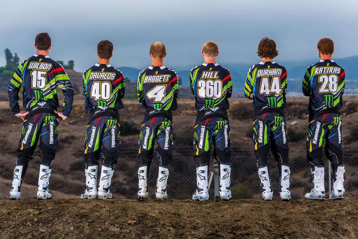 The 2013 squad / Monster Energy Pro Circuit Kawasaki photo