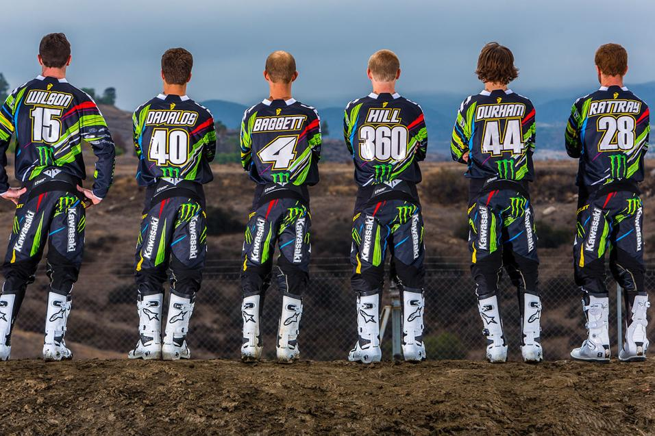 Monster Energy/Pro  Circuit Kawasaki Photoshoot