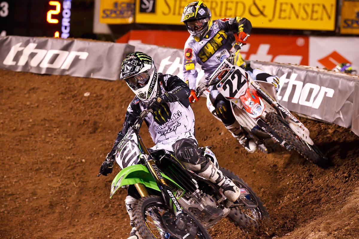 But in a clutch ride, Villopoto would take control of the series with a win a week later in Salt Lake City. (Cudby photo)