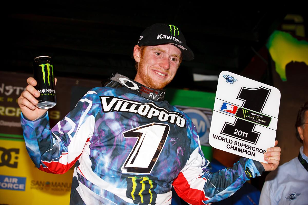 RV holding the #1 plate for the first time in his 450SX career. Few, if any, supercross seasons have created more excitement. (Cudby photo)