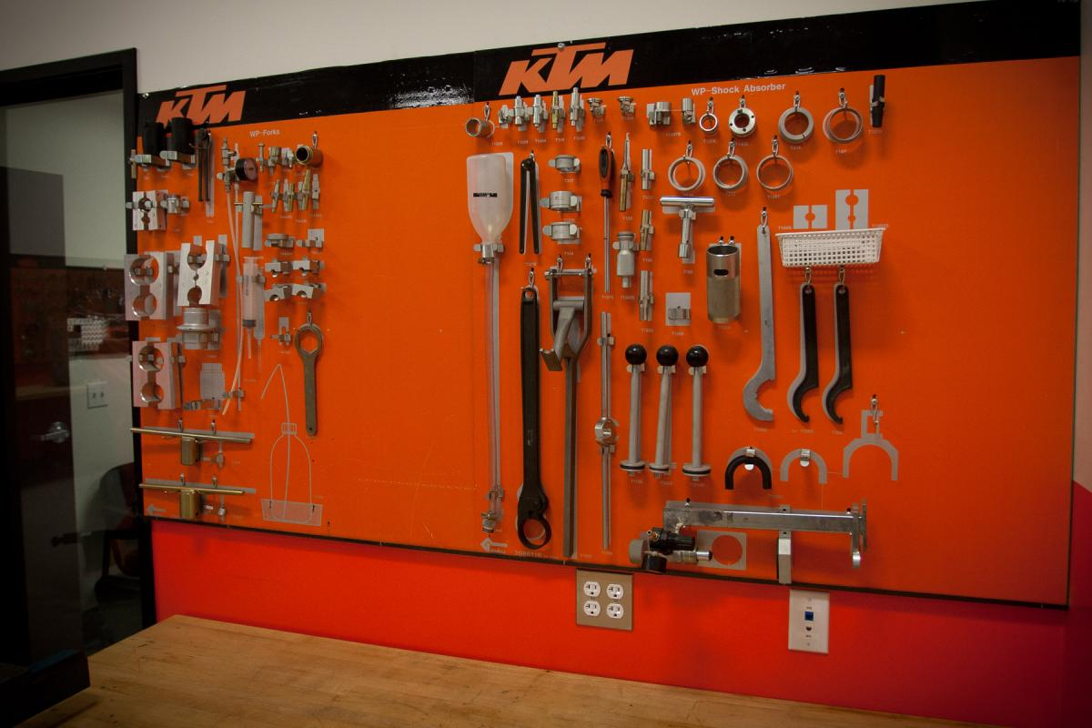 KTM hardware and hard parts.