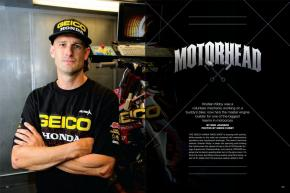 In the 1990s, Christian Kibby was a volunteer mechanic in the Australian Nationals; today he's GEICO Honda's master technician and engine builder. Page 144.