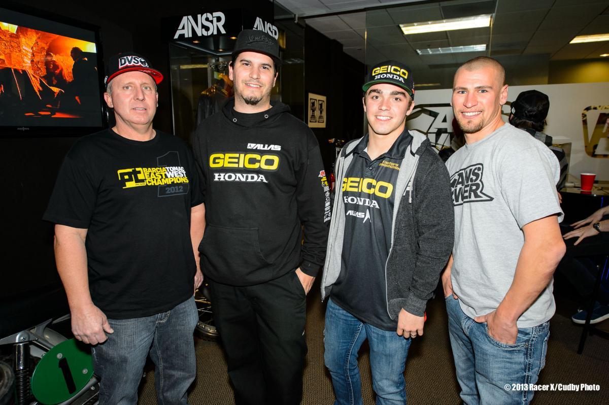 Geico crew and Bob Kiniry