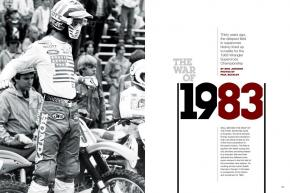 While 2013 boasts a stacked field of competitors, '83 may never be matched. Here's the story of an epic season in the words of the men who raced it: Bailey, Glover, Hannah, Bell, Barnett, and Lechien. Page 162.