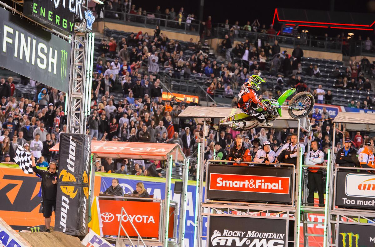 Congratulations to Ryan Villopoto on his third premier-class SX title. Here's a look back at his 2013 season, which included 10 wins starting with the win seen here at Anaheim 2.