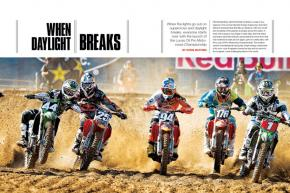 When the lights go off on supercross and racing hits the daylight with the launch of the Lucas Oil Pro Motocross Championship, everyone gets to start over. Page 110.