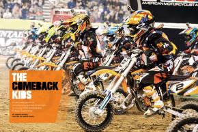 Absent from the supercross tour since 2008, the KTM Junior Supercross Challenge remains a favorite of fans nationwide. And now it's back! Page 136.