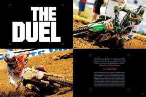 While the 250 Class is once again a multi-rider free-for-all, the 450 Class in Lucas Oil Pro Motocross has been pared down to a duel between the two Ryans: Villopoto versus Dungey. Page 110.