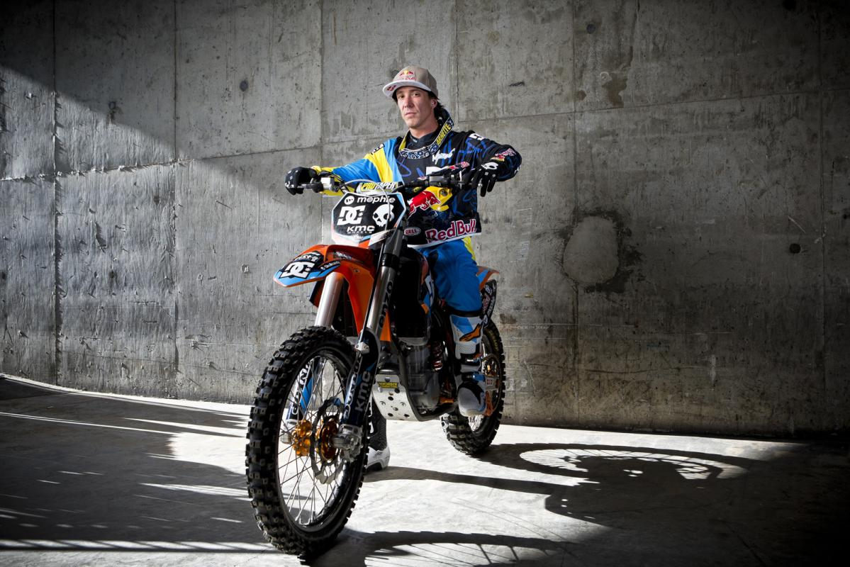 Multi-time X Games medalist Robbie Maddison competed in Best Whip for his first time, and rode great. The crowd loved him, and his arsenal of different whips was quite impressive.