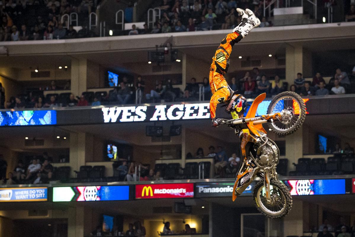 Wes Agee is a big guy, so when he throws big tricks, his extension is that much more impressive. Agee rode great, but with such stiff competition, he wound up eighth.