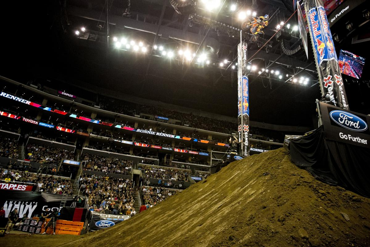 Once again, Ronnie Renner was the man to beat in Moto-X Step-up. Matt Buyten and Libor Podmol battled to the bitter end, but Renner's whipped out airs prevailed, taking him to 38 feet, six inches.