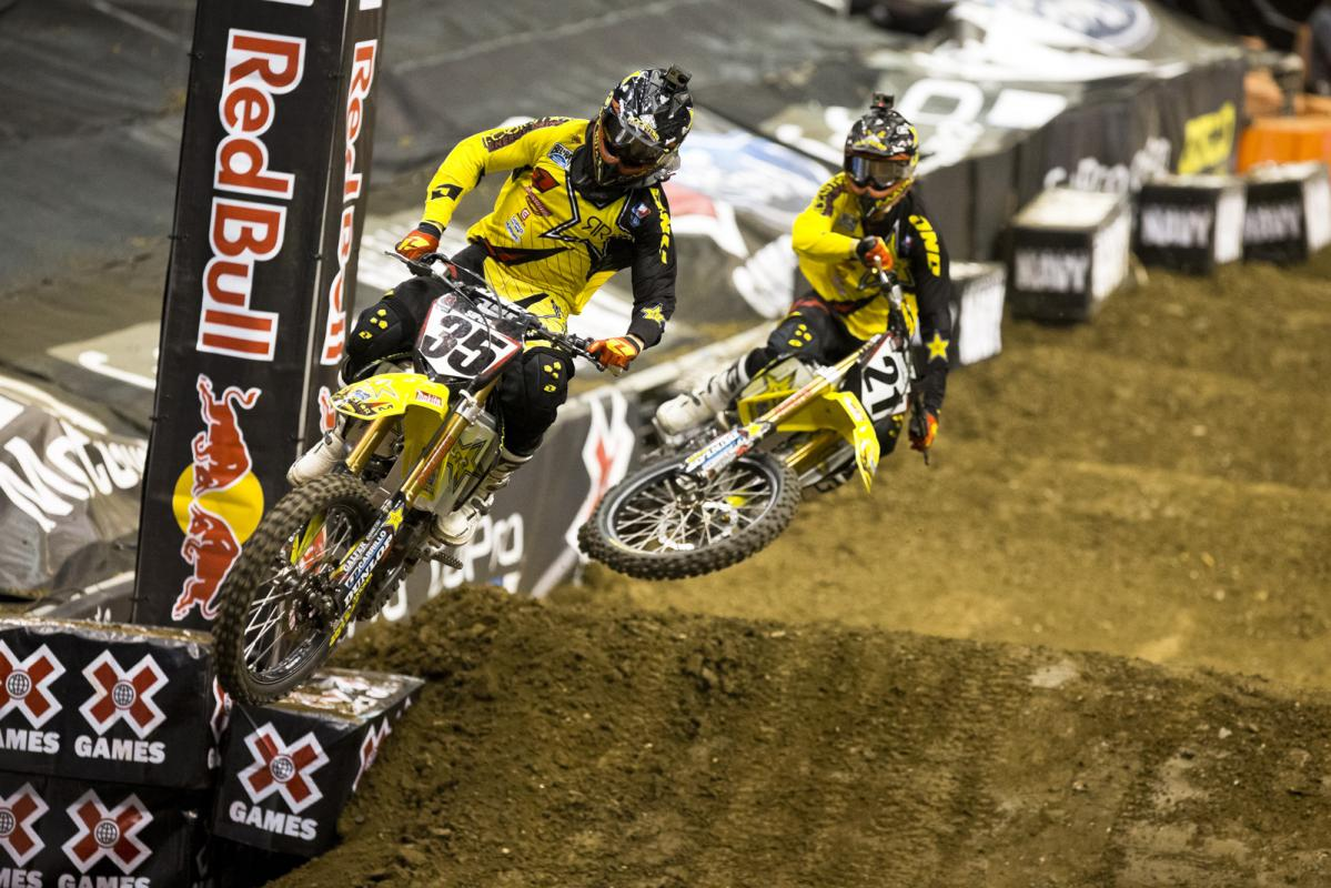 Rockstar Suzuki teammates Ryan Sipes and Jason Anderson came all the way out to L.A. for an attempt at the gold medal and the big prize money that comes with it on their weekend off from the MX Nationals.