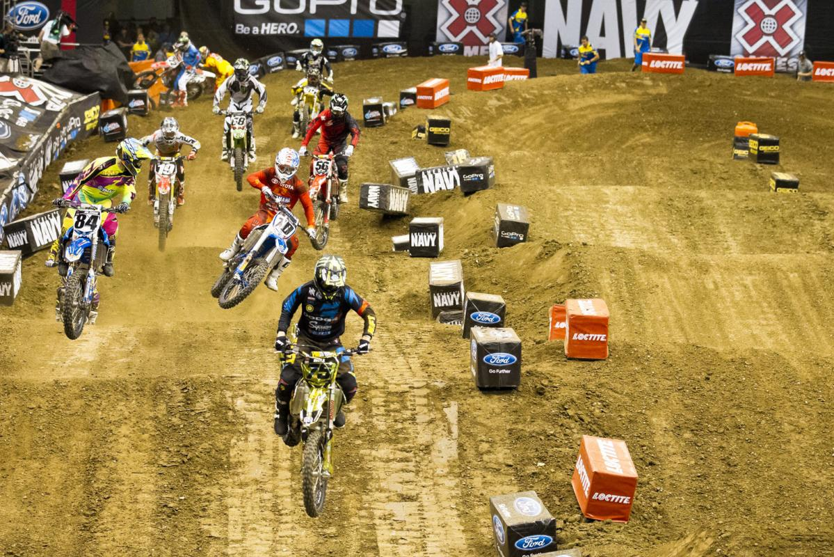 With a clear track ahead and Chad Reed busy trying to get back on the track well behind him, Hill suddenly found himself in the driver's seat of the main event.