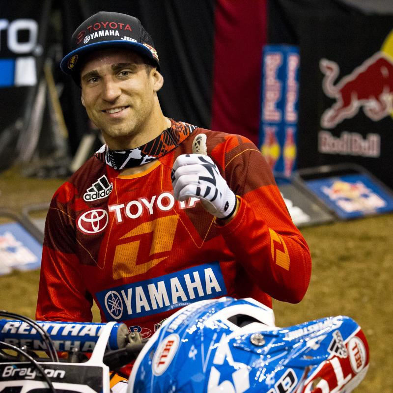 Brayton was all smiles after the hard-fought battle with Hill paid off with a big win. Justin had two silvers from previous X Games racing events, but this was his very first gold.
