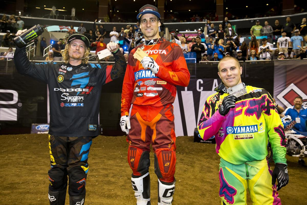 When the dust settled on Saturday night's main event, Justin Brayton stood atop the podium, with Hill holding on for a close second and Blose in third. Reedy was fourth, and Kyle Regal rounded out the top-five.