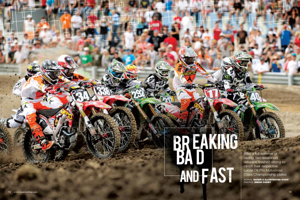 With the 2013 Lucas Oil Pro Motocross Championship in the books, we round up the major players for inspection and assign our end-of-season grades. Page 94.