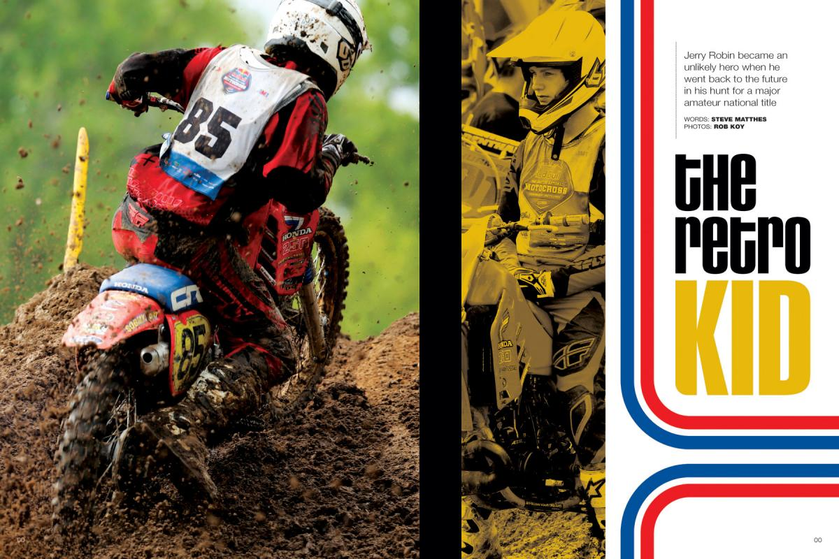 A young racer named Jerry Robin stole the show at Loretta Lynn's this year—on a pair of old Honda CR250s! Page 116.